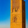 Hassan Tower is the minaret of an incomplete mosque in Rabat. Commissioned in 1195, the tower was intended to be the tallest minaret in the world, but construction ended with the death of the caliph who commissioned the project.