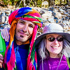 Portrait of Mary with our mountain hiking guide Mohammed.