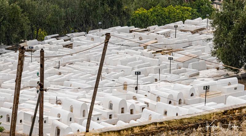 Jewish cemetery in Fez medina.