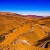 Circuitous road near the highest pass in Morocco, the Tizi-n Tichka at nearly 7000 feet.