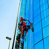 Window cleaning in Casablanca.