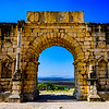 Triumphal Arch at the Roman ruins of Volubilis.
