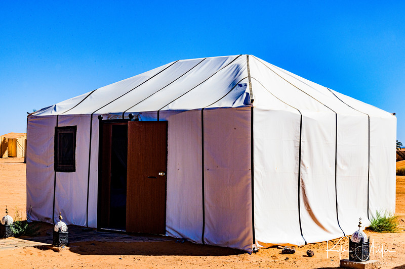 Our home for two nights at the tented camp in the high Sahara Desert.