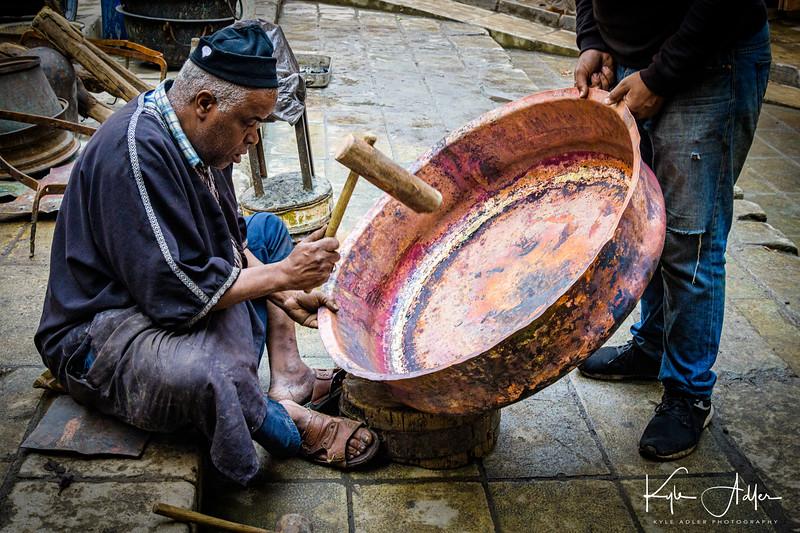 Traditional metalworking arts.
