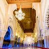 Inside Casablanca's massive Hassan II Mosque.