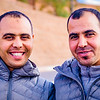 Mohammed poses with his brother Amazuz in their home town of Tinghir.