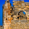 Ruins of a magnificent temple at Volubilis.