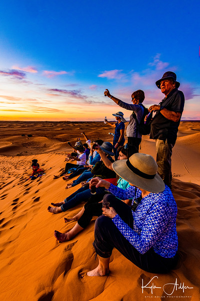 A toast to the end of the day in the Sahara Desert.