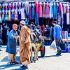 Street scene in the souks of Marrakesh medina.