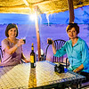 Enjoying a sundowner at our tented camp in the Sahara.