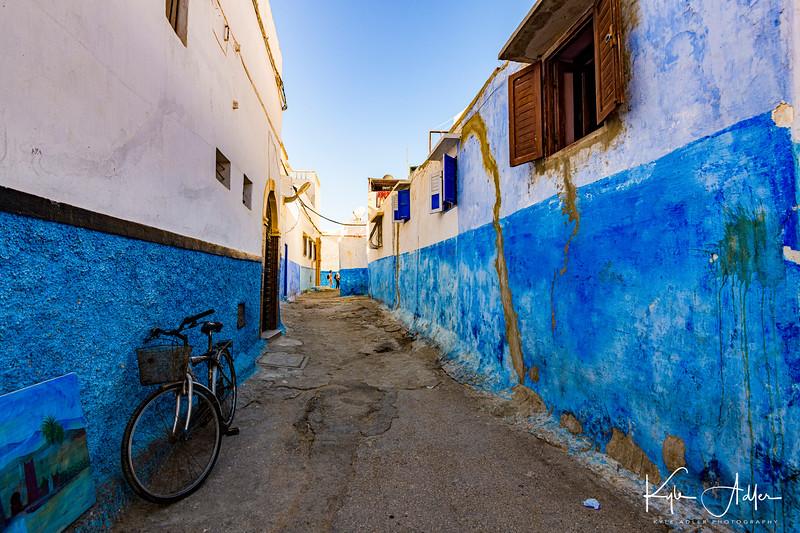 An alley in Rabat's Udaya Kasbah.