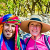 Portrait of Nancy with our mountain hiking guide Mohammed.