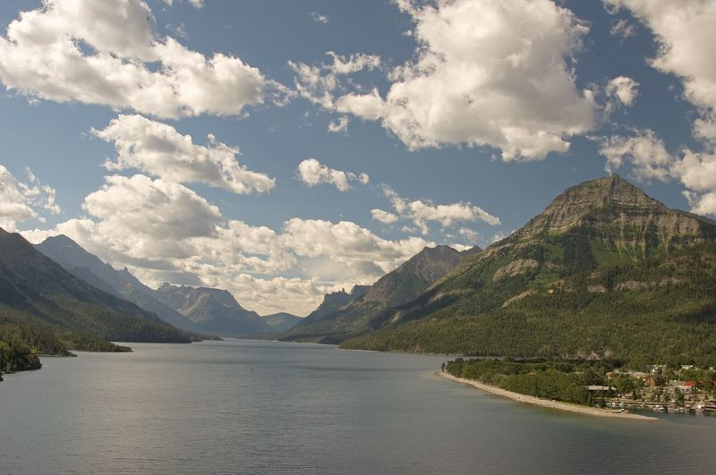 Waterton Lake and Waterton Townsite.