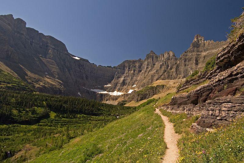 Iceberg Lake Trail.