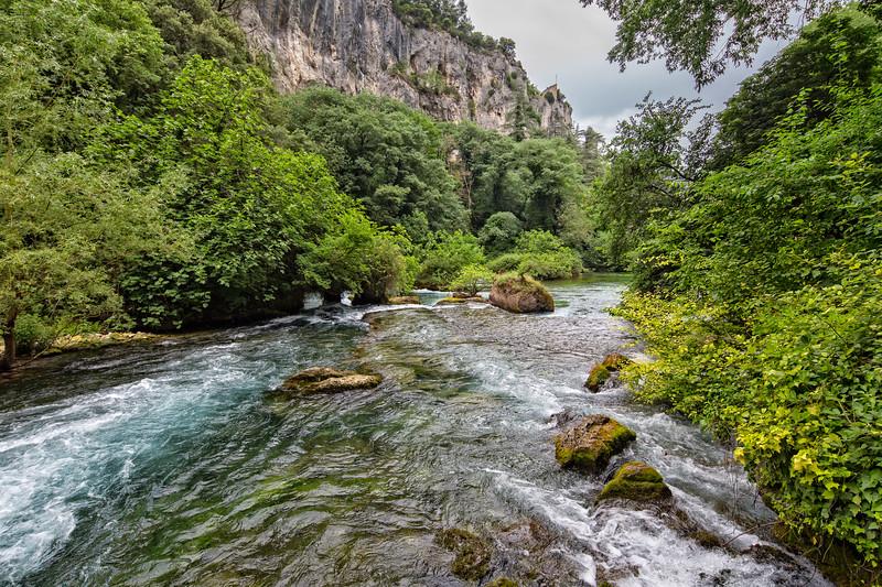 Sorgue River close to its sourcece