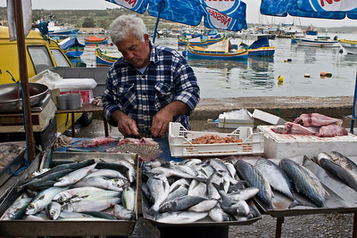 Fish Vendor, Marsaxlokk Sunday Fair