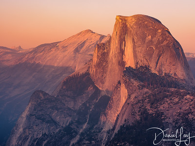 Half Dome at Sunset from Glacier Point - July 2017 - Yosemite National Park, CA