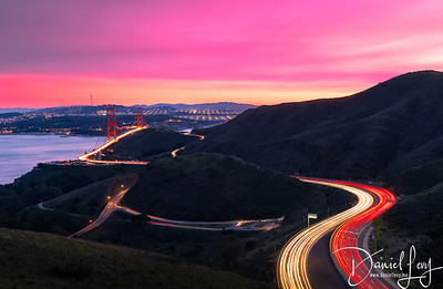 Looking into San Francisco from Marin Headlands