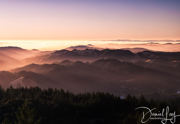 Sunset from Mt. Tam
