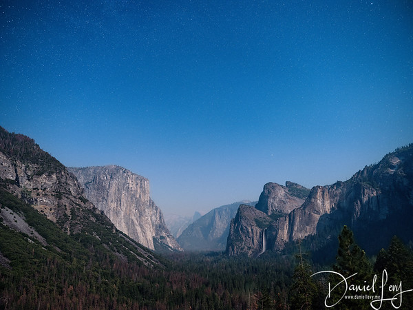Tunnel View at Blue Hour - July 2017 - Yosemite National Park, CA