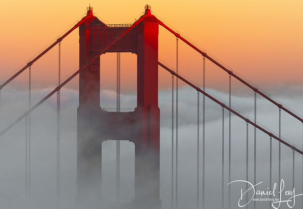 Out of the Fog - Golden Gate Bridge from Marin (September 2016)