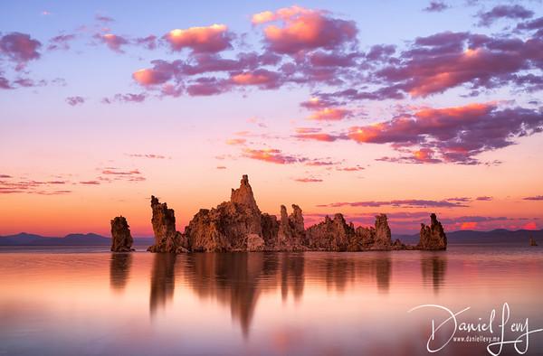 Mono Lake Reflections at Sunset - Lee Vining, CA
