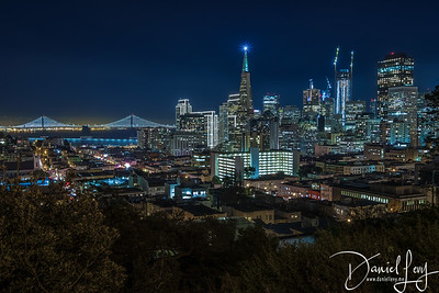 Happy Holiday Skyline - San Francisco, CA