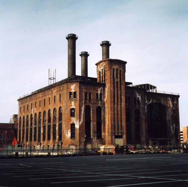 Jersey City Powerhouse; Medium Format Negative Scan, Pentacon 6