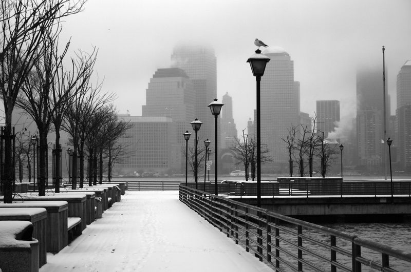 Waterfront with Snow