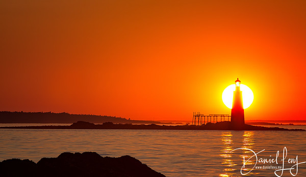 Sunrise - Portland, Maine - Ram Island Ledge Lighthouse