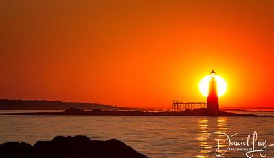 Sunrise - Portland, Maine - Ram Island Ledge Lighthouse