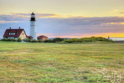 Portland Head Lighthouse (Ram Island Light in the Distance)