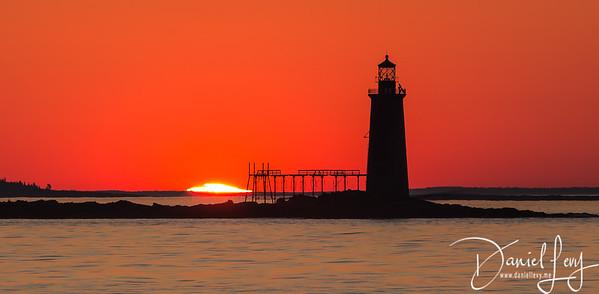 First Light - Portland, Maine - Ram Island Ledge Lighthouse