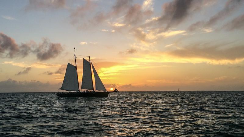 Sunset Sailing off Key West