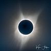 Perhaps the best of the four total solar eclipses I've observed!  Here you can see the sun's delicate corona in all its glory, along with some brightly colored prominences and some streamers.