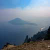 We stopped at Crater Lake National Park on our long drive back to the SF Bay Area.  Regrettably, there was nearly zero visibility due to heavy smoke from nearby wildfires.
