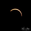 Crescent-shaped sun viewed as the partial eclipse resumes.