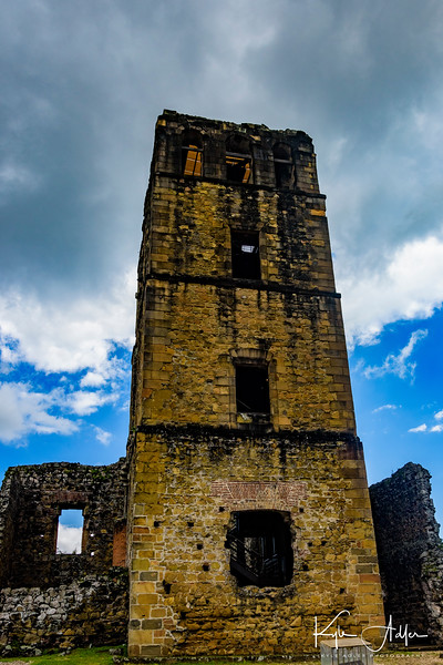The ruins of Cathedral Tower in Panama City's Old Quarter.
