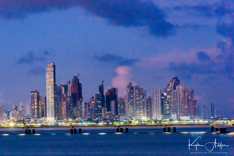 Panama City by night.