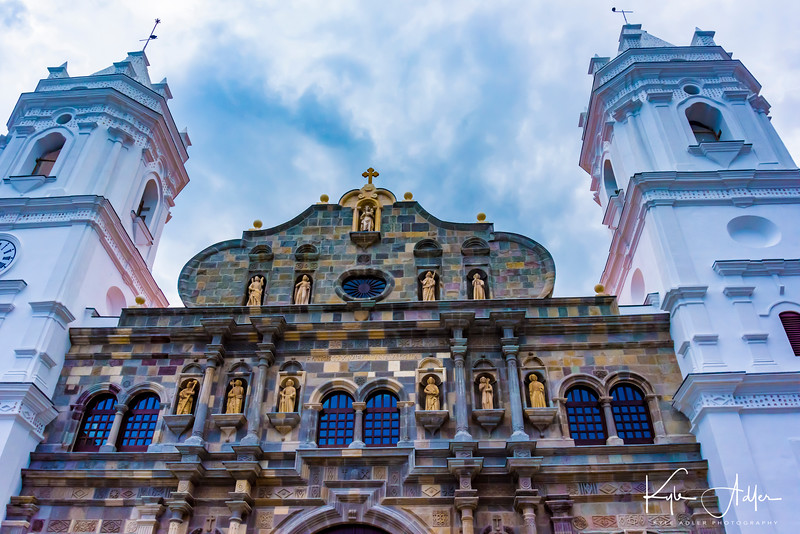 The Cathedral Basilica of St. Mary, begun  in 1688, is located on the same square in Old Town as our hotel.