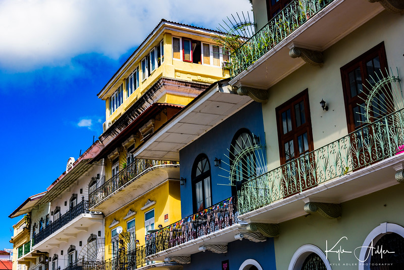 Spanish colonial architecture in Panama City.