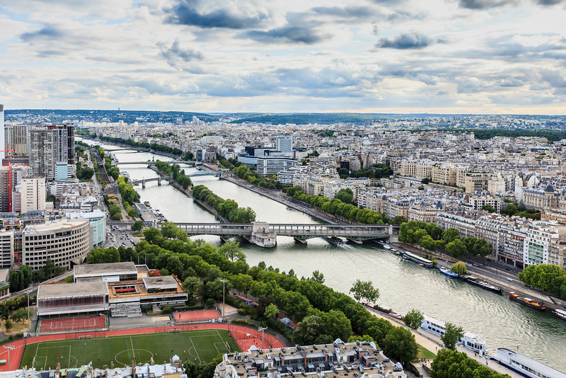 Paris view from Eiffel tower.