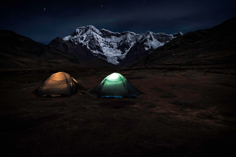 Camping at the base of Ausangate