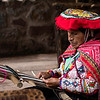 Native Peruvian woman weaver