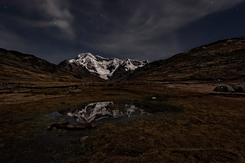 Reflection of Ausangate at Night