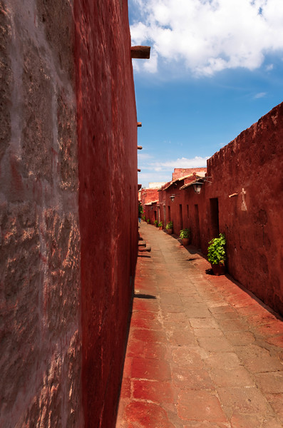 The streets of Monasterio  De Santa Catalina