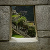 Machu Picchu window to courtyard
