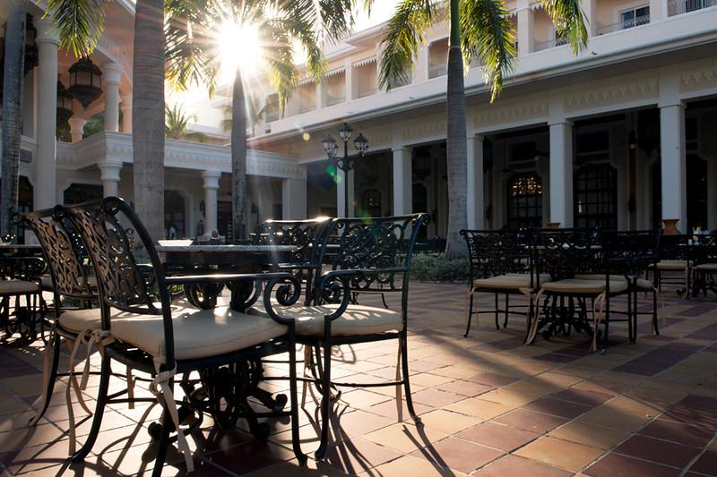 Riu Palace Resort courtyard, Punta Cana, Dominican Republic
