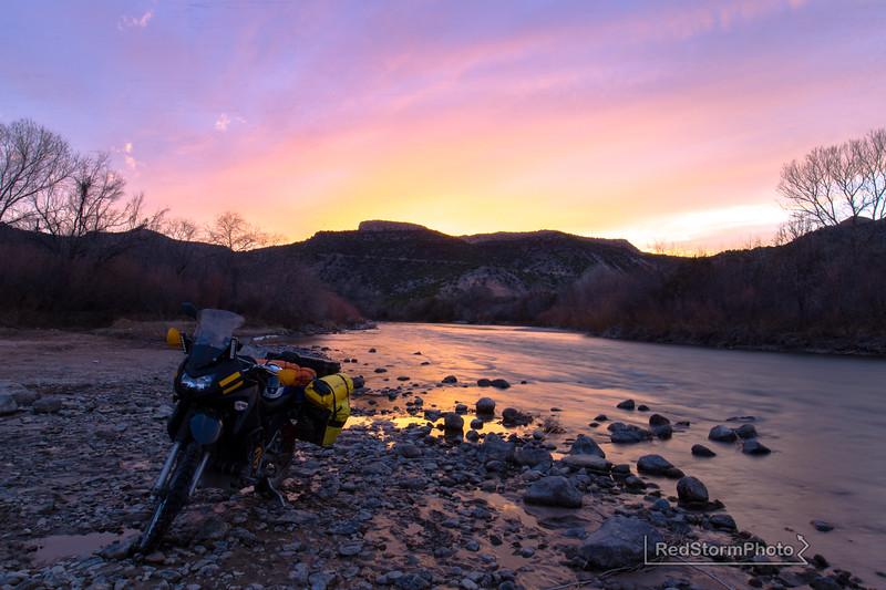 On the Rio Grande near Diablo Canyon, New Mexico