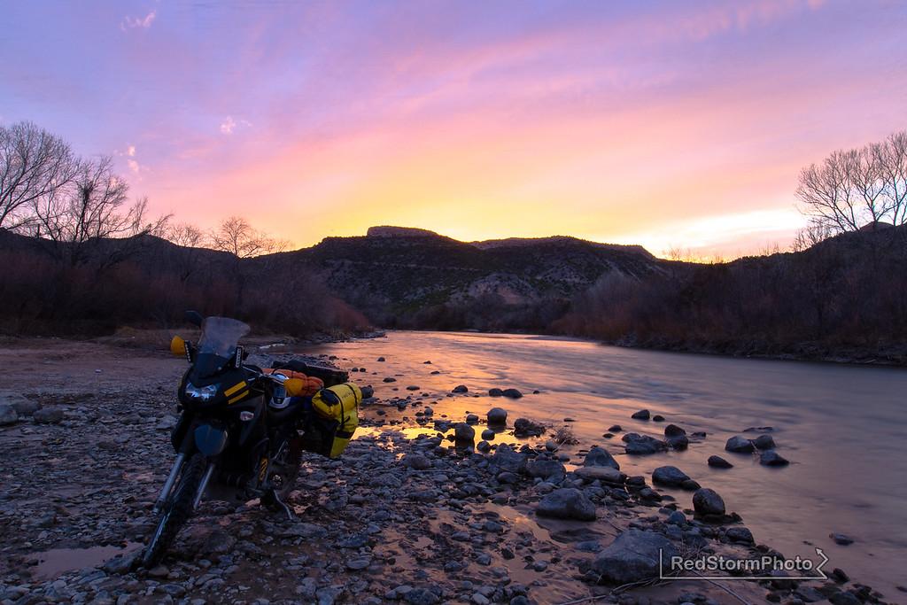On the Rio Grande near Diablo Canyon, New Mexico.